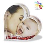 Acrylic Heart Shape Photo Frame with Water & Heart Shape Floaters Custom Imprinted