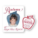 Custom Imprinted Picture Frame w/ Apple Cut-Out Vinyl Magnet - 30mil