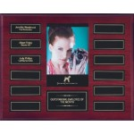 """10.5"""" x 13"""" Mahogany Perpetual Plaque w/12 Plates and a Photo Holder Custom Printed"""