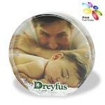 Acrylic Round Photo Frame Block with Water & Glitters Logo Branded