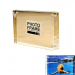 Magnetic Double Side Acrylic Photo Frame Custom Imprinted