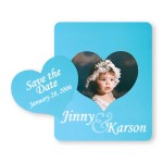 Picture Frame w/ Heart Shape Cut-Out Vinyl Magnet - 20mil Custom Printed