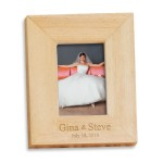"""Logo Branded Mini Wood Frame with Magnetic Back (1-1/2"""" x 2"""" Photo)"""
