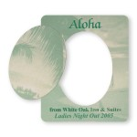 Logo Branded Picture Frame w/ Oval Shape Cut-Out Vinyl Magnet - 20mil