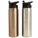 Custom Branded 24 Oz. Stainless Steel Vacuum Insulated bottle with Flip Closure