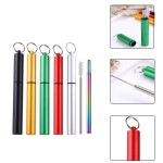 Custom Printed Telescopic Stainless Straw in Carabiner Case