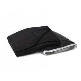 Custom Imprinted Black Coral Fleece Throw Blanket