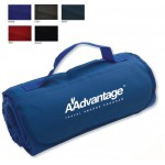"47"" x 53"" Fleece Roll Up Stadium Blanket (Embroidered) Logo Branded"