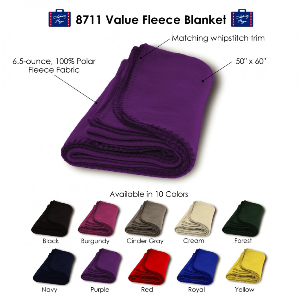 Custom Embroidered Alpine Value Fleece Blanket