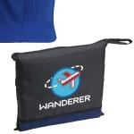 Wanderer Travel Blanket Logo Branded