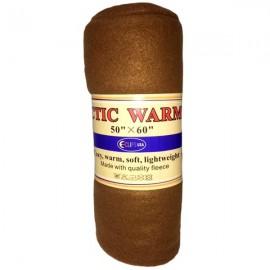 Custom Imprinted Arctic Warmth Fleece Blanket 50 X 60 - Brown (Case of 24)