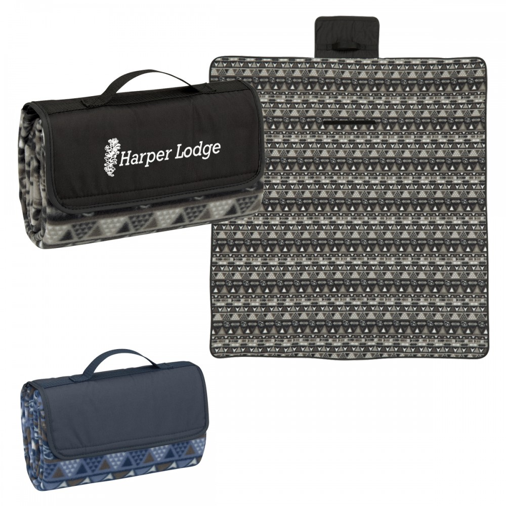 Canyon Roll-Up Picnic Blanket Logo Branded