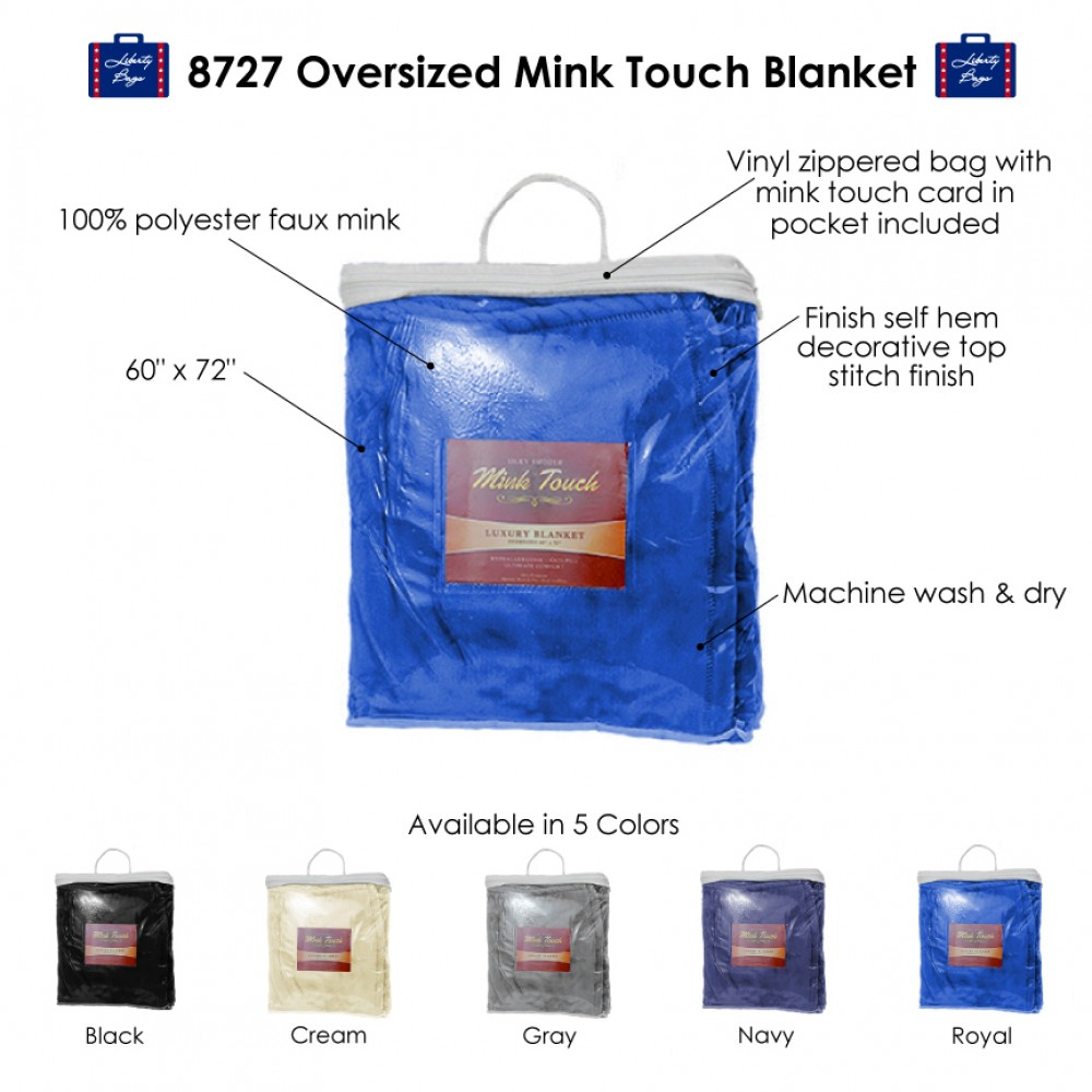 Alpine Fleece Oversized Mink Touch Blanket Custom Embroidered