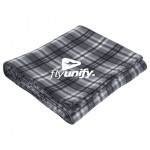 Custom Imprinted Plaid Fleece Blanket