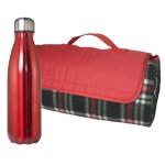Logo Branded Picnic Blanket and Bottle Set