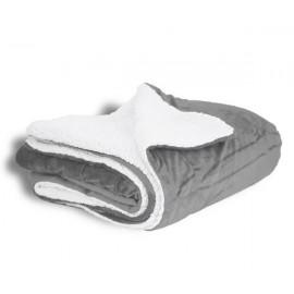 Logo Branded Alpine Fleece Micro Mink Sherpa Blanket