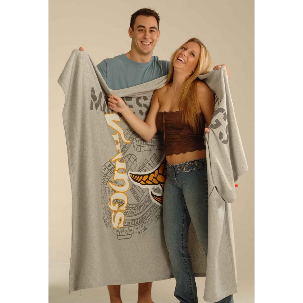 "54"" x 84"", Oversized Sweatshirt Blanket (Embroidered) Logo Branded"