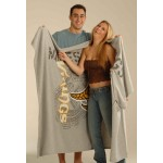 "54"" x 84"", Oversized Sweatshirt Blanket (Embroidered) Custom Imprinted"