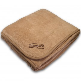 Custom Imprinted Brentwood - Super Plush Coral Fleece Blanket (Embroidered)