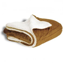 50x60 Micro Mink Sherpa Blanket- Camel Logo Branded