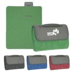 Heathered Roll-Up Blanket Logo Branded