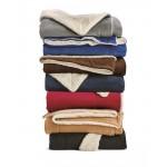 Custom Imprinted Alpine Fleece Oversized Sherpa Blanket