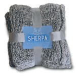 Custom Embroidered Frosted Sherpa Blankets