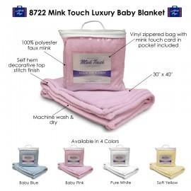Custom Imprinted Alpine Fleece Mink Touch Luxury Baby Blanket
