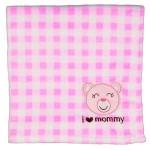 Baby Girls Fleece I Love Mommy Blankets Logo Branded