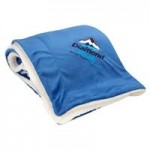Oversized Micro Soft Touch Sherpa Blanket Logo Branded