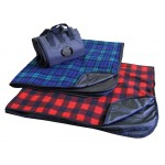 Fleece Picnic Blanket w/Attached Carrying Strap Custom Embroidered