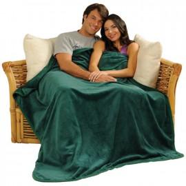 "Logo Branded 50"" x 60"" Luxury Micro Fleece Blanket (Blank)"