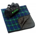 Logo Branded Blackwatch Plaid Picnic Blanket (Imprinted)