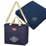 Custom Imprinted Hefty Cooler Bag With Fleece Blanket