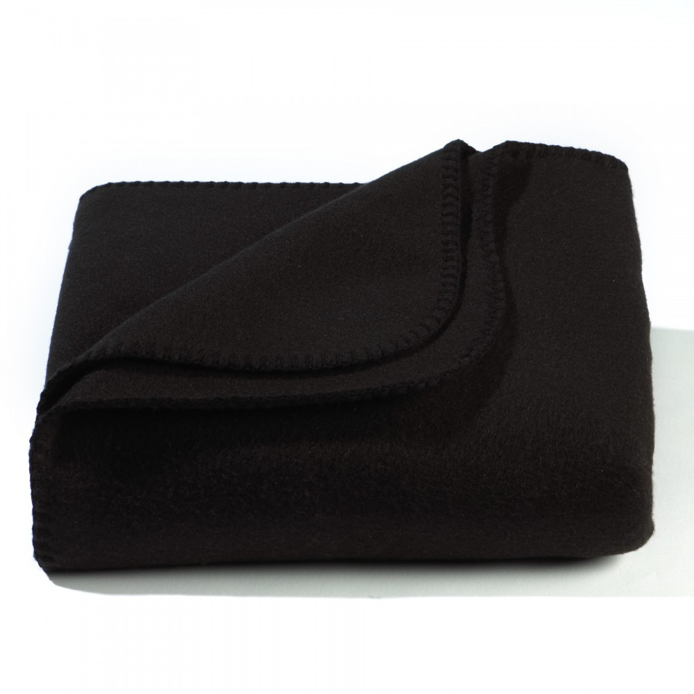 Black Value Fleece Blanket Custom Embroidered