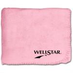 "50""X60"" Whipstitch Fleece Blanket - Pink Custom Imprinted"
