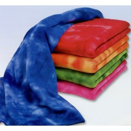 Tie Dye Fleece Throw Blanket Logo Branded