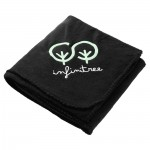 Logo Branded 100% Recycled PET Fleece Blanket with Canvas Pouch
