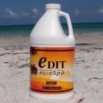 SPF30 Sunscreen (1/2 Gallon) w/Pump USA Made Custom Printed