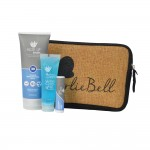 Promotional Aloe Up Neoprene and Burlap Bag with Sport Sunscreen