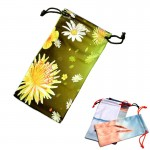 Custom Printed Full Color Microfiber Eye Glass Pouch With Drawstring