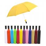 Wine Bottle Creative Umbrella Logo Branded