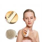 Custom Printed Natural Bristle Wooden Bath Brush
