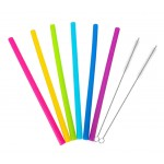 Custom Imprinted Reusable Silicone Straws Brush