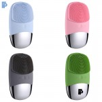 Electric Silicone Electric Facial Cleansing Brush Logo Branded