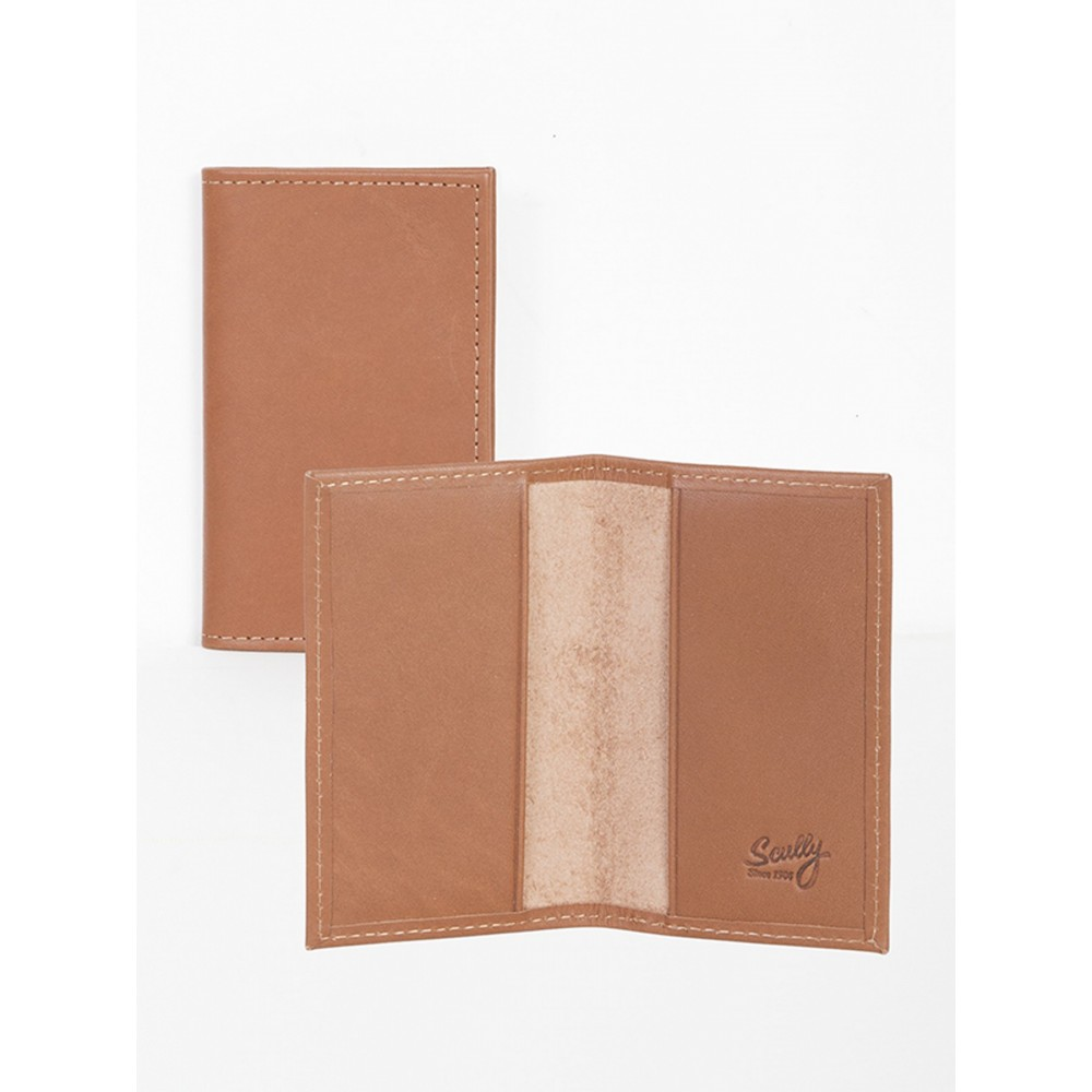 Harness Calf Leather Business Card Case Logo Branded