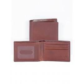 Custom Printed Italian Leather Slim Billfold Bi-Fold Wallet w/ RFID Theft Protection