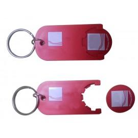 Custom Printed Plastic Trolley Coin Keychain