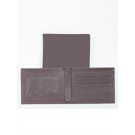 Harness Calf Leather Window Billfold w/ ID Window Logo Branded