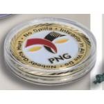 "Round Plastic Coin Case (1.5"") Logo Branded"